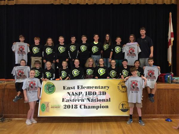 East Elementary archery team wins Championship title.