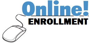 decorative image of computer mouse with words online enrollment