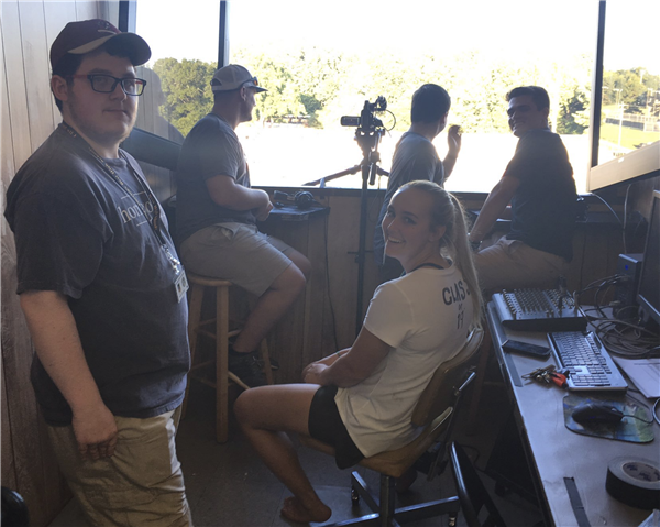 Broadcast crew at 2018 football game