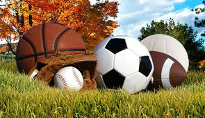 image of soccer ball, volleyball, and other fall sport items